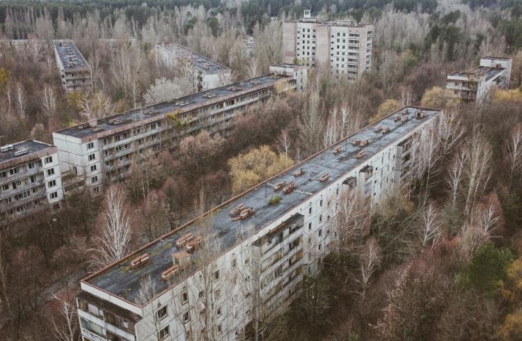 Чернобыль после катастрофы