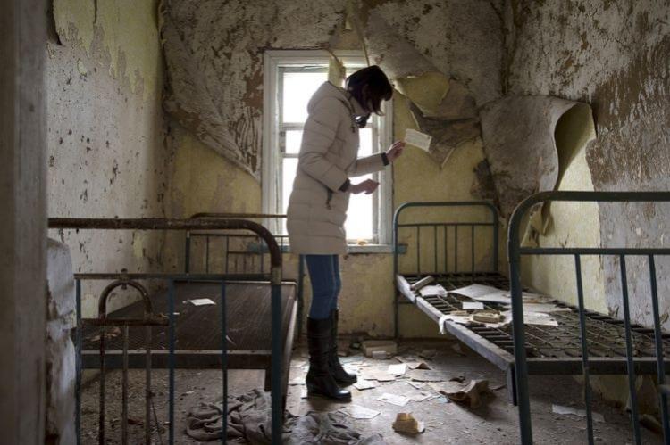 В одном из зданий в Чернобыле