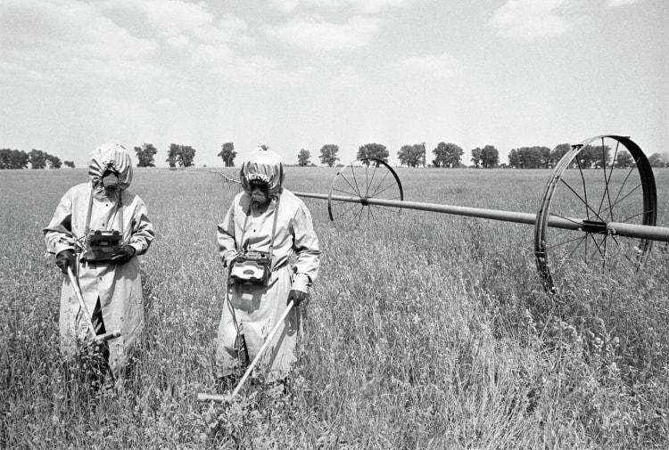 Обследование радиоактивного фона