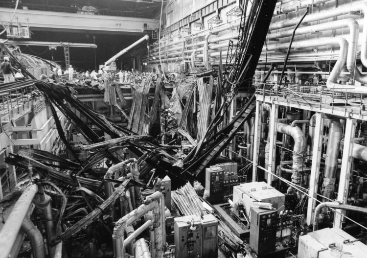 Разрушения на ЧАЭС после взрыва