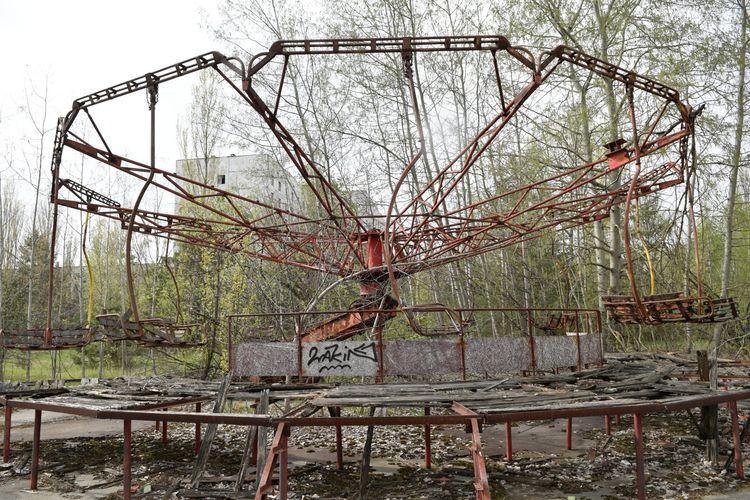 Парк Припяти после аварии