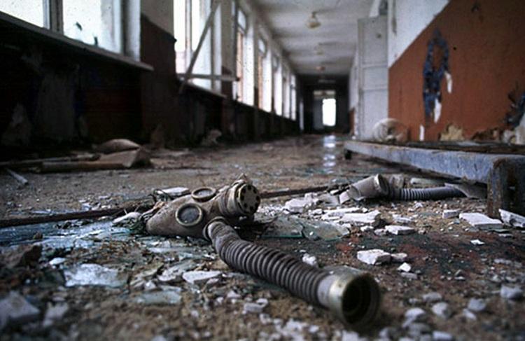 В коридоре школы в Припяти