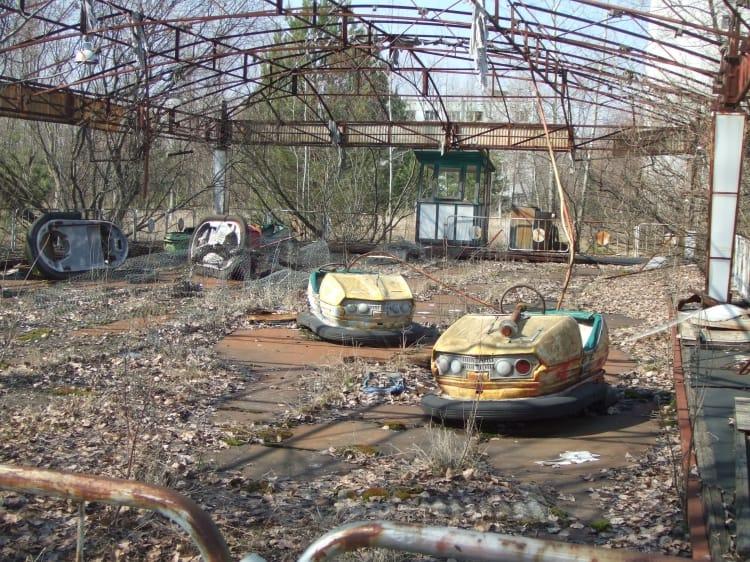 В Припяти после аварии на Чернобыльской ЧАЭС