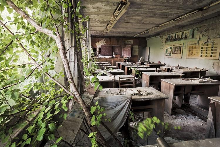 Старая школа в Чернобыле