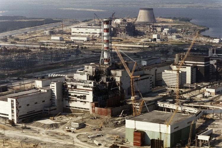 ЧАЭС после взрыва реактора