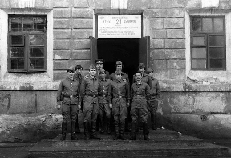 Солдаты - ликвидаторы Чернобыльской аварии