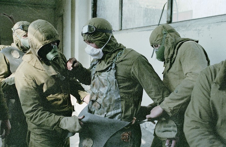 Чернобыльцы на ликвидации аварии