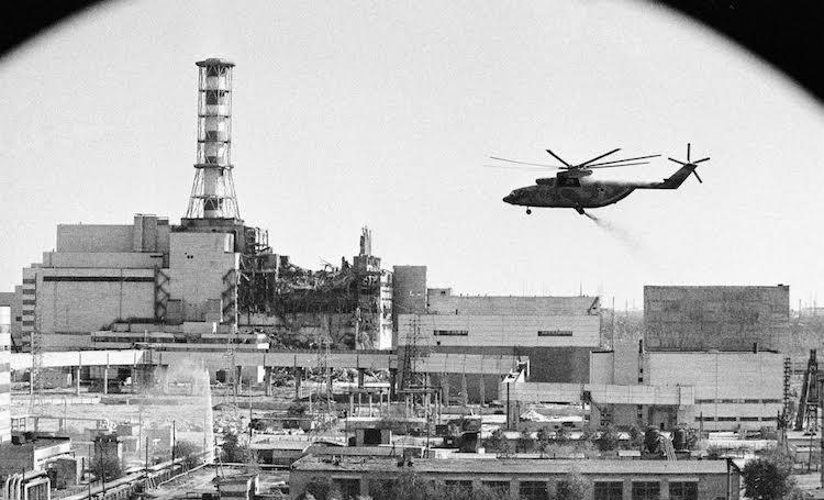 Тушение пожара на ЧАЭС после взрыва, 26 апреля 1986 год