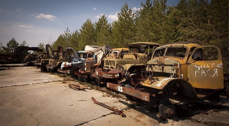 Кладбище техники в Чернобыле