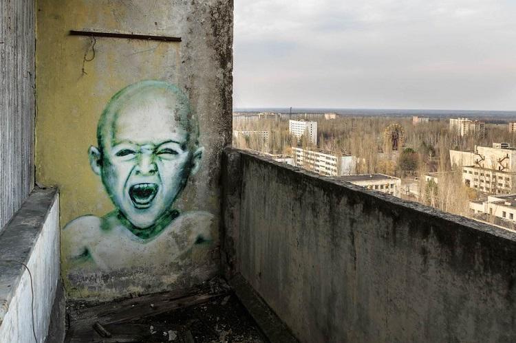 Уличное графити в Припяти
