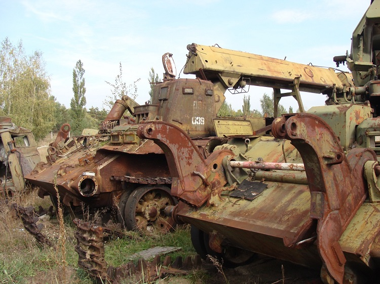 Брошенная техника в Чернобыле