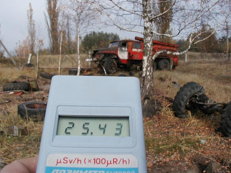Радиоактивный фон от техники в Чернобыле