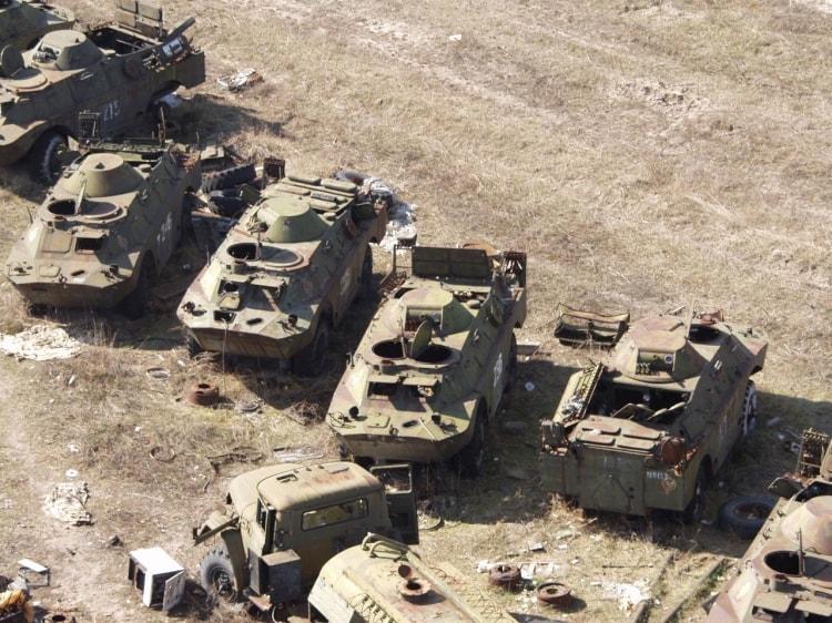 Военная техника Чернобыля