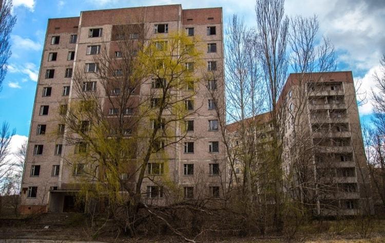 Многоэтажный дом в 5 микрорайоне Припяти