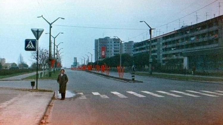 Главная улица в Припяти до аварии
