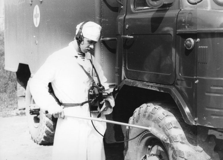 Обработка машины скорой помощи