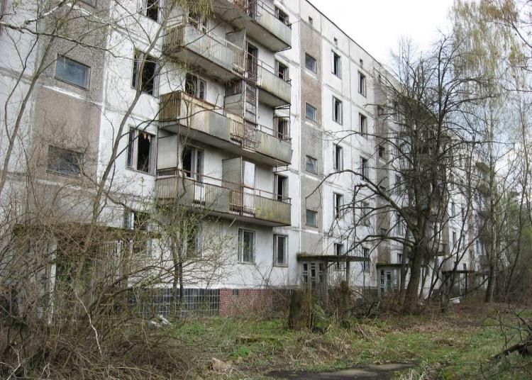 Многоквартирный дом в Припяти