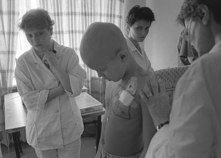 Ребенок, облученный радиацией