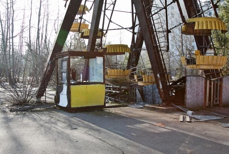 Под колесом обозрения в Припяти