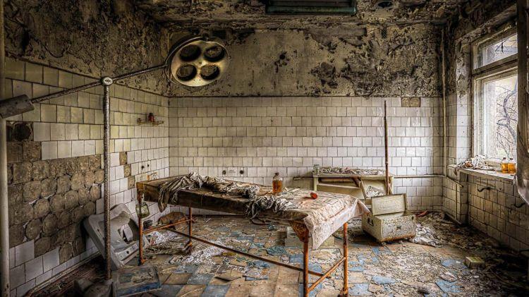 Бывшая больница в Чернобыле