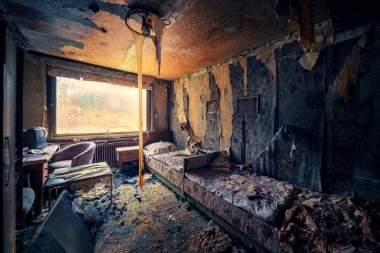 Внутри брошенного дома в Чернобыле