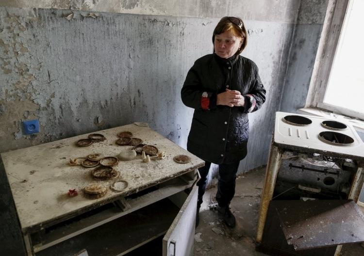 Бывшая жительница Чернобыля вернулась домой