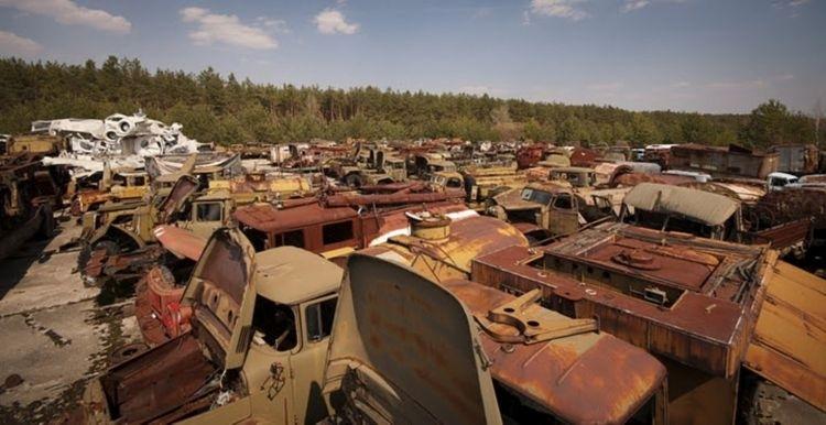 Опасная техника в Чернобыле