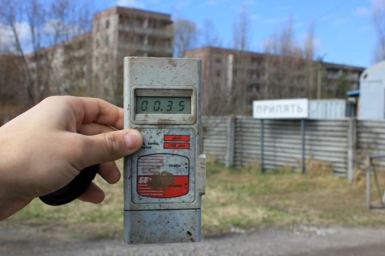 Измерение радиации в Чернобыле