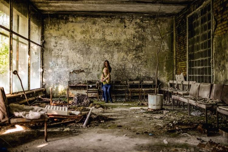 Туристы в Чернобыле