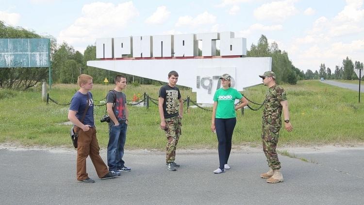 Туристы в Припяти
