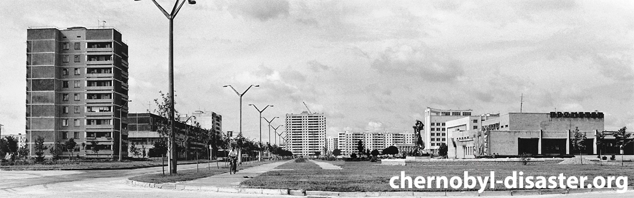 Pripyat before the Pripyat disaster at the Chernobyl power plant in Ukraine