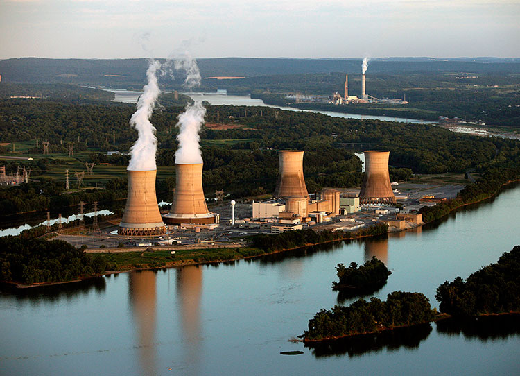 Nuclear power plant in US - Three Mile Island