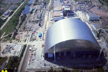 chernobyl containment dome pictures