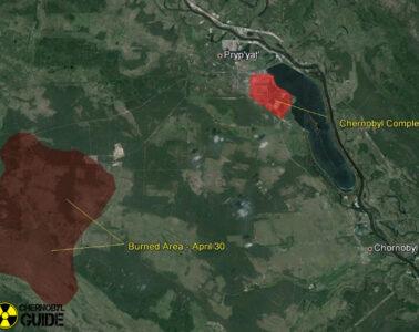 chernobyl satellite pictures