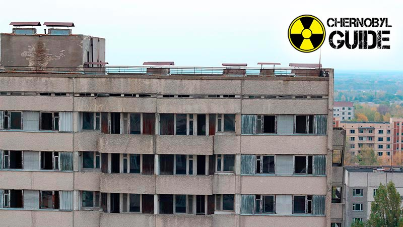 Ukrainian Chernobyl before and after the explosion of 4 nuclear power plant reactors