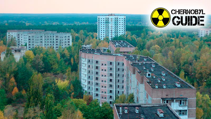 Territory of Chernobyl then and now, photo
