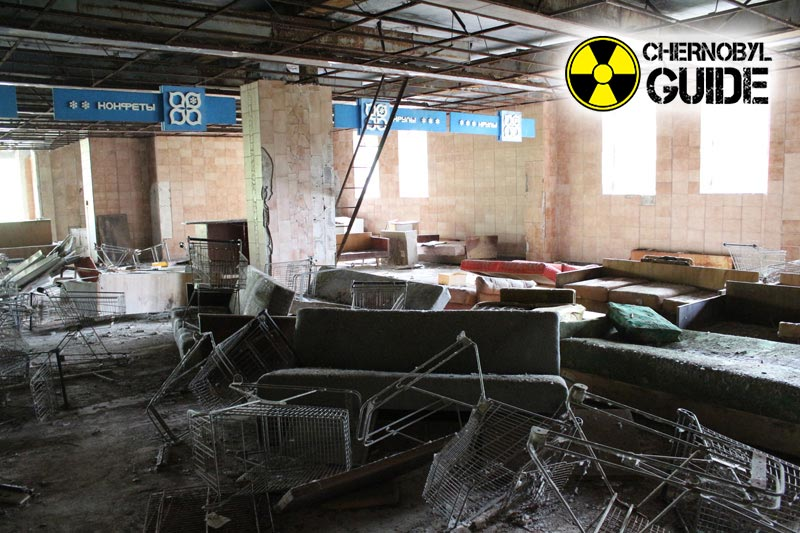 Foto de Chernobyl después del accidente en la central nuclear local