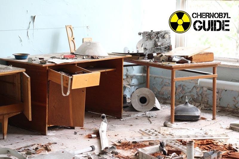 La ciudad de Pripyat sobre las imágenes de las consecuencias de la catástrofe de Chernobyl