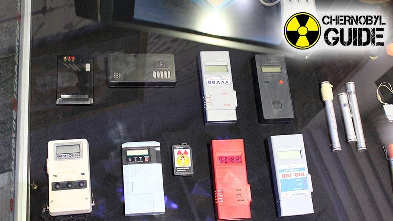 Photos of exhibits in the Chernobyl Museum