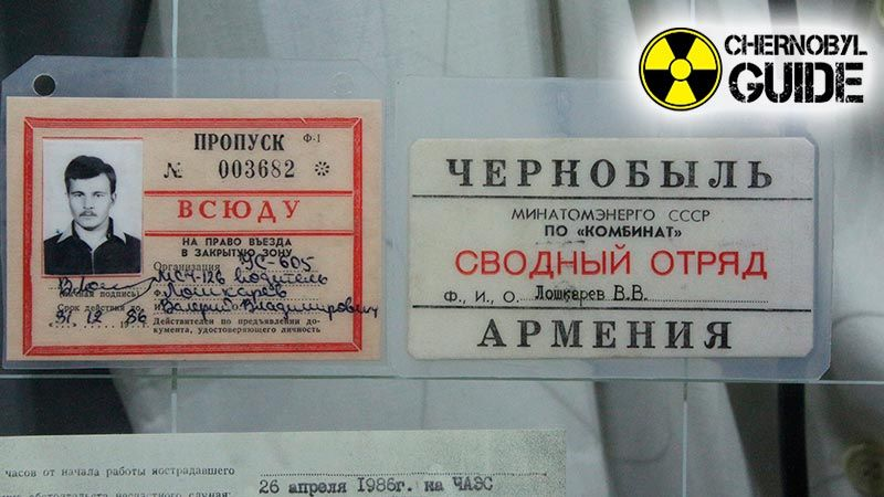 Pictures of exhibits in the Chernobyl Museum