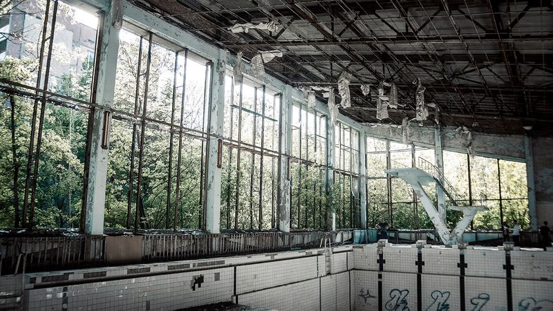Photos of the city of Pripyat in Chernobyl