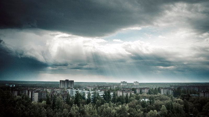 Pictures of the Chernobyl town of Pripyat