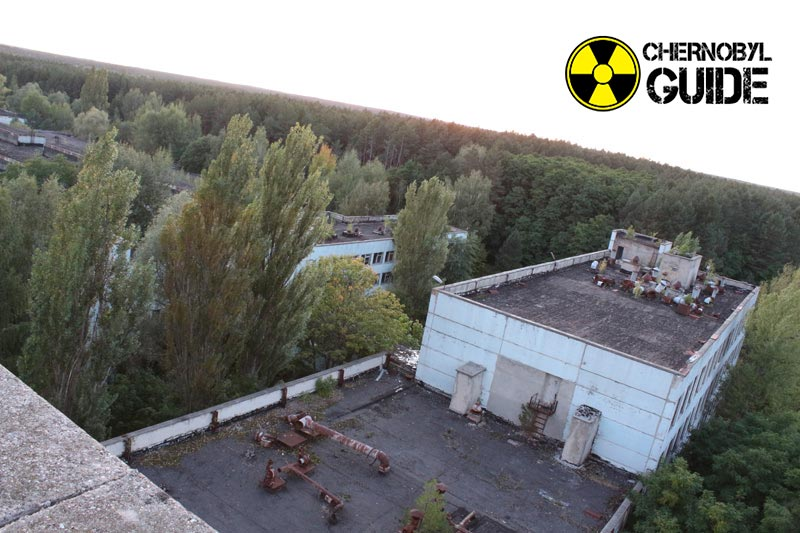 Photo of Chernobyl after the explosion at the nuclear power plant in 1986