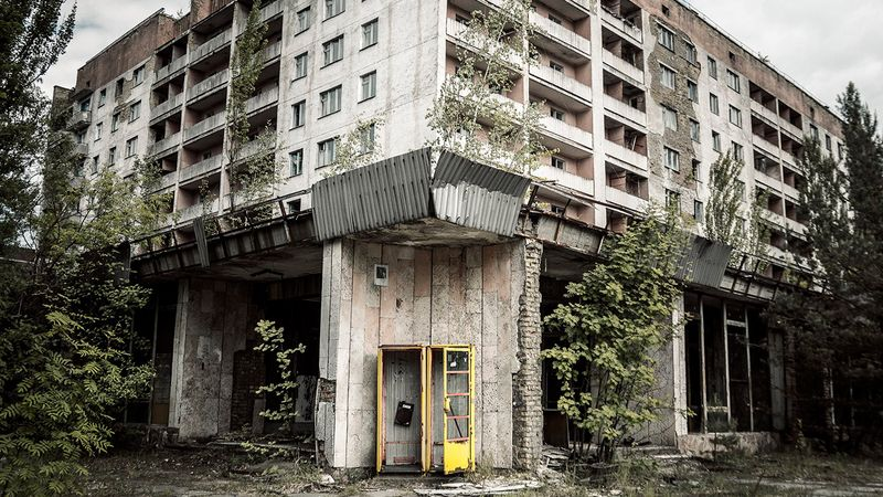 The famous hotel in Chernobyl - pictures