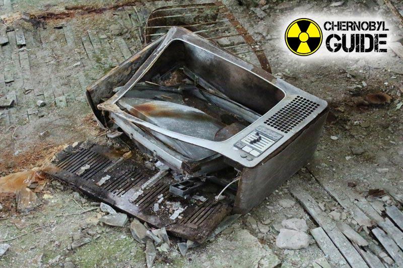Desastre de Chernobyl en Chernobyl en la foto
