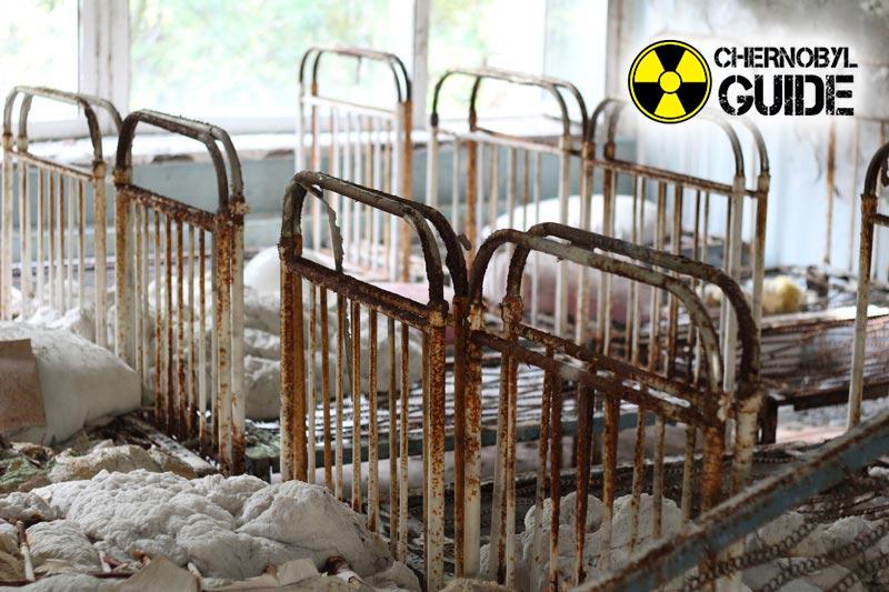 Foto della città di Pripyat a Chernobyl dopo l'incidente presso la centrale nucleare del 1986
