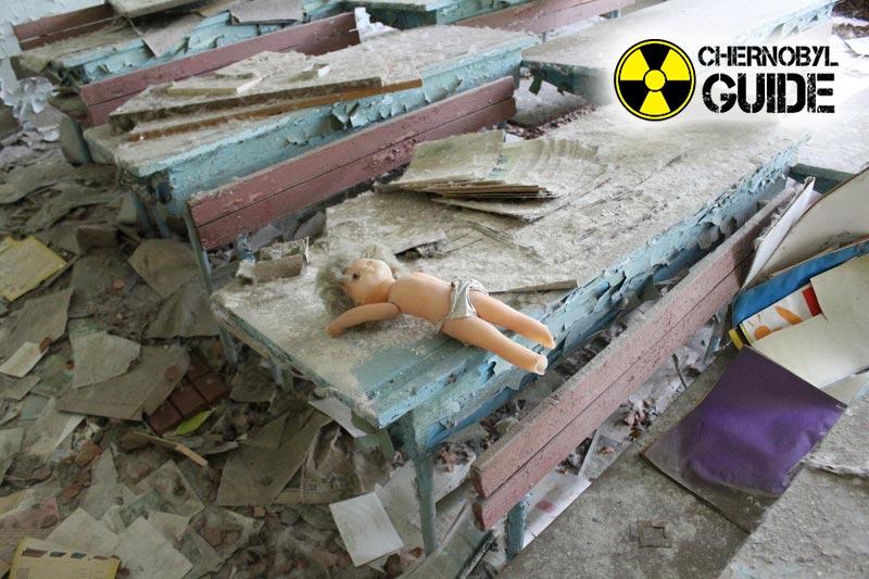 Foto dettagliate della città di Chernobyl di Pripyat, Ucraina