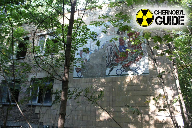Chernobyl disaster in the city of Pripyat in the photo