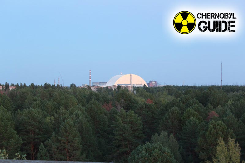 The city of Pripyat in the photo of the consequences of the Chernobyl catastrophe